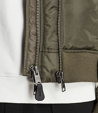 Mens Bellevue Bomber Jacket (Khaki Green) - Image 4