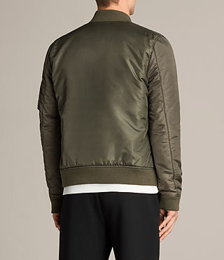 Mens Bellevue Bomber Jacket (Khaki Green) - Image 5