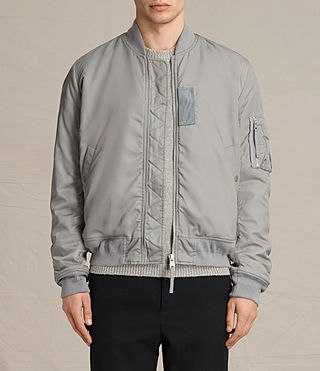 Mens Henson Bomber Jacket (Light Grey) - product_image_alt_text_1