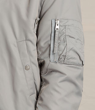 Mens Henson Bomber Jacket (Light Grey) - product_image_alt_text_2