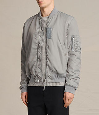 Mens Henson Bomber Jacket (Light Grey) - product_image_alt_text_3