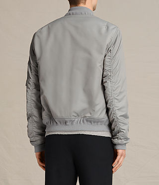 Mens Henson Bomber Jacket (Light Grey) - product_image_alt_text_4