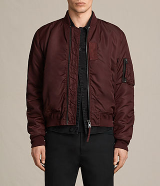 Herren Henson Bomber Jacket (OXBLOOD RED) -