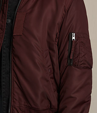 Herren Henson Bomber Jacket (OXBLOOD RED) - product_image_alt_text_2