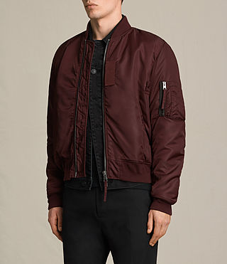 Herren Henson Bomber Jacket (OXBLOOD RED) - product_image_alt_text_3