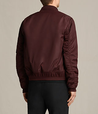 Herren Henson Bomber Jacket (OXBLOOD RED) - product_image_alt_text_4