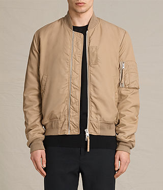 Mens Henson Bomber Jacket (Gold) - product_image_alt_text_1