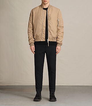 Mens Henson Bomber Jacket (Gold) - product_image_alt_text_3