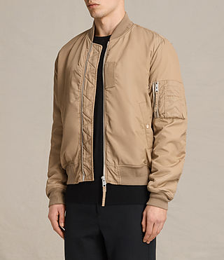Mens Henson Bomber Jacket (Gold) - product_image_alt_text_4