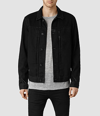 Mens Hisako Denim Jacket (Black)