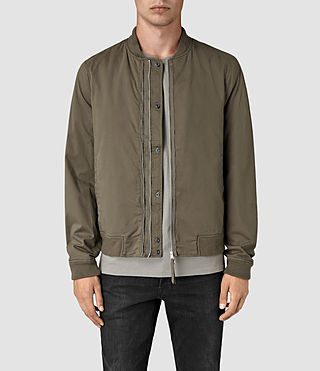 Mens Hearn Bomber Jacket (DARK ARMY GREEN)