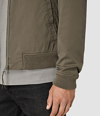 Hombres Hearn Bomber Jacket (DARK ARMY GREEN) - product_image_alt_text_2