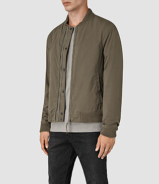 Hombres Hearn Bomber Jacket (DARK ARMY GREEN) - product_image_alt_text_3