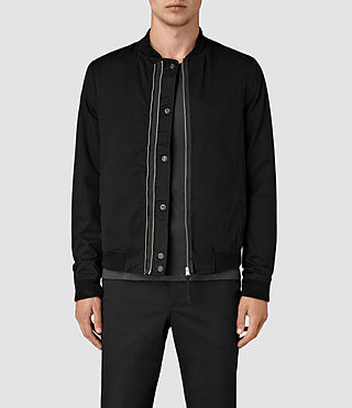 Herren Hearn Bomber Jacket (Black) -