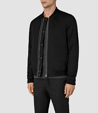Hommes Hearn Bomber Jacket (Black) - product_image_alt_text_3