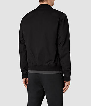 Hommes Hearn Bomber Jacket (Black) - product_image_alt_text_4