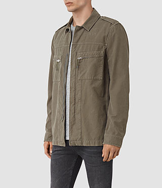 Hommes Ari Jacket (Khaki Green) - product_image_alt_text_2