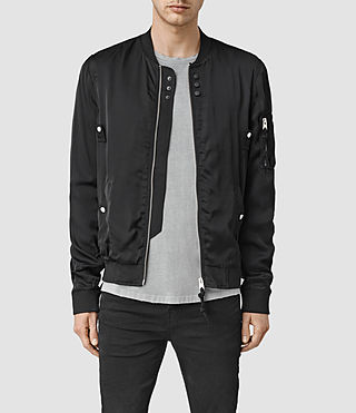 Mens Moyle Bomber Jacket (Black)