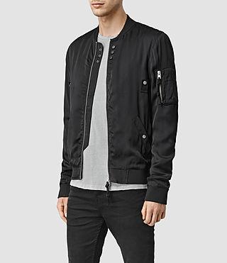 Hommes Moyle Bomber Jacket (Black) - product_image_alt_text_2