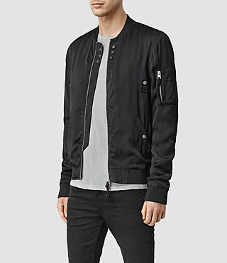 Hombres Moyle Bomber Jacket (Black) - product_image_alt_text_2