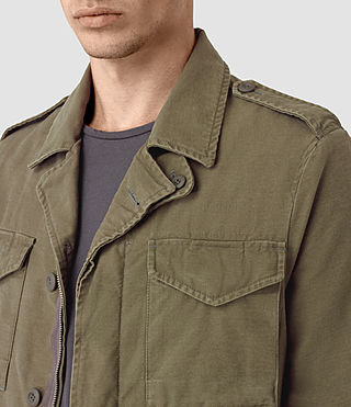 Uomo Bale Jacket (Khaki Green) - product_image_alt_text_2