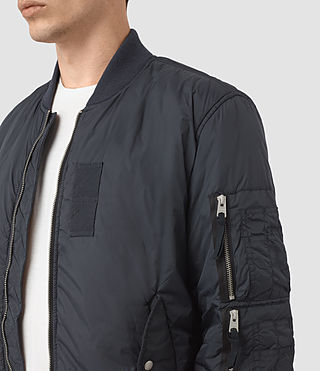 Men's Soven Bomber Jacket (INK NAVY) - product_image_alt_text_2