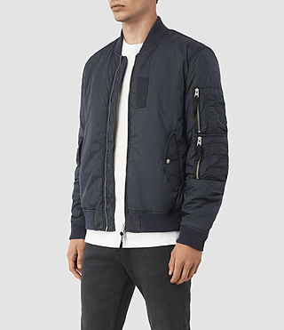 Men's Soven Bomber Jacket (INK NAVY) - product_image_alt_text_3