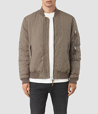 Mens Soven Bomber Jacket (Taupe Brown)
