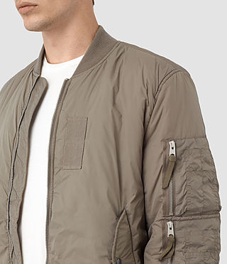 Men's Soven Bomber Jacket (Taupe Brown) - product_image_alt_text_2