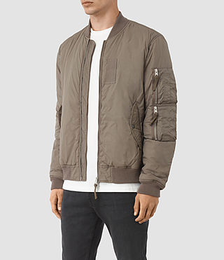 Men's Soven Bomber Jacket (Taupe Brown) - product_image_alt_text_3