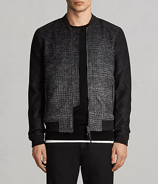 Men's Cade Bomber Jacket (BLACK/CHARCOALGREY)