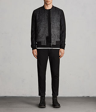 Hommes Cade Bomber (BLACK/CHARCOALGREY) - product_image_alt_text_3