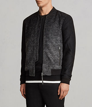 Hommes Cade Bomber (BLACK/CHARCOALGREY) - product_image_alt_text_4