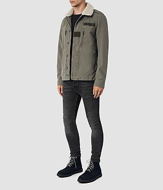 Uomo Rai Jacket (Khaki Green) - product_image_alt_text_3