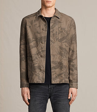 Mens Yasuko Jacket (Khaki Brown) - product_image_alt_text_1