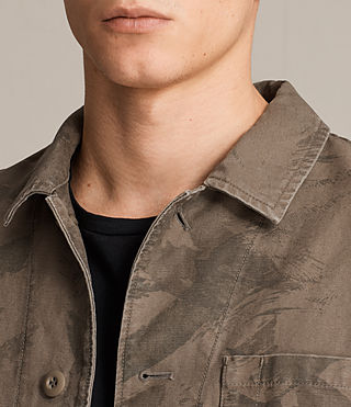 Hombres Yasuko Jacket (Khaki Brown) - product_image_alt_text_2