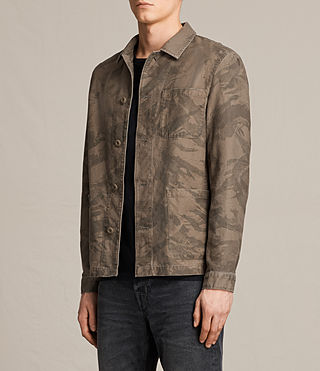 Hombres Yasuko Jacket (Khaki Brown) - product_image_alt_text_3