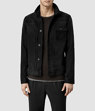 Mens Brook Denim Jacket (Black)