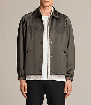 Mens Hicks Jacket (Dark Khaki Green) - product_image_alt_text_1