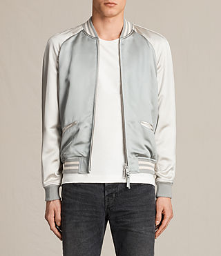 Mens Rundle Bomber Jacket (Powder Blue)