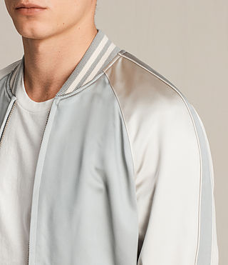 Mens Rundle Bomber Jacket (Powder Blue) - product_image_alt_text_2