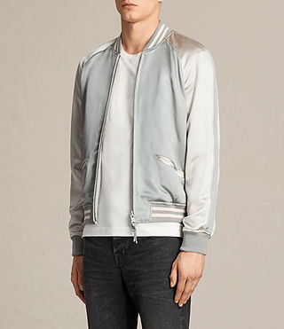 Mens Rundle Bomber Jacket (Powder Blue) - product_image_alt_text_3