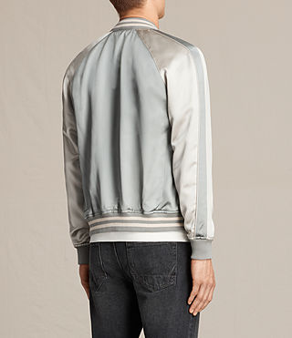 Mens Rundle Bomber Jacket (Powder Blue) - product_image_alt_text_5