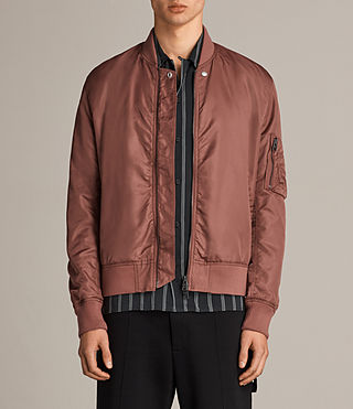 Mens Sierra Bomber Jacket (RUBY RED) - Image 1
