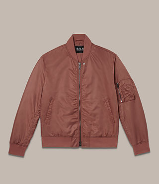 Mens Sierra Bomber Jacket (RUBY RED) - Image 2