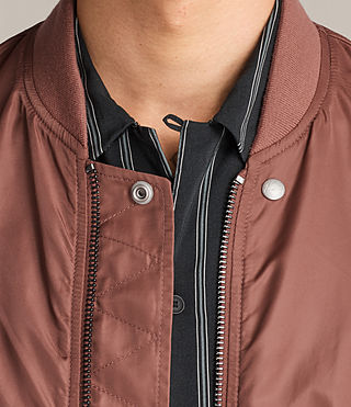 Mens Sierra Bomber Jacket (RUBY RED) - Image 6