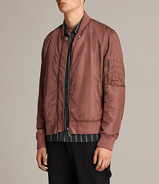 Mens Sierra Bomber Jacket (RUBY RED) - Image 7