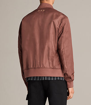 Mens Sierra Bomber Jacket (RUBY RED) - Image 8