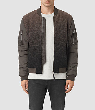 Mens Shiro Bomber Jacket (Brown/Black) - product_image_alt_text_1