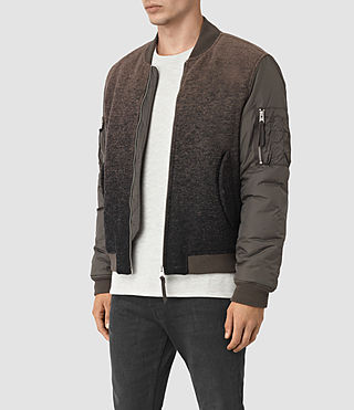 Mens Shiro Bomber Jacket (Brown/Black) - product_image_alt_text_3